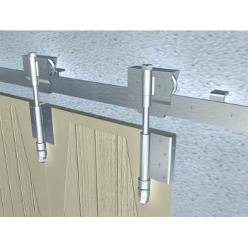 Montures à galet Bob 50 pour ferrures porte coulissante sur fer plat
