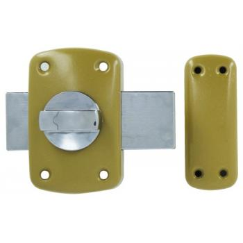 Verrou de sûreté à bouton varié pour huisserie bois Wallis 2
