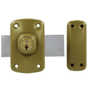 Verrou de sûreté à cylindre double varié pour huisserie bois Wallis 2