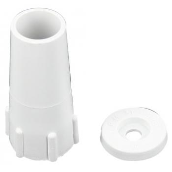 Butées pour linteau rondes coloris blanc