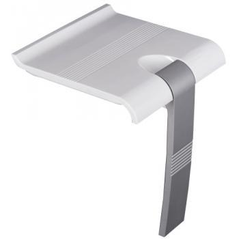 Siège de douche relevable Arsis blanc/gris à béquille automatique