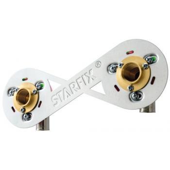 Kit de fixation pour robinetterie sur cloison Starfix