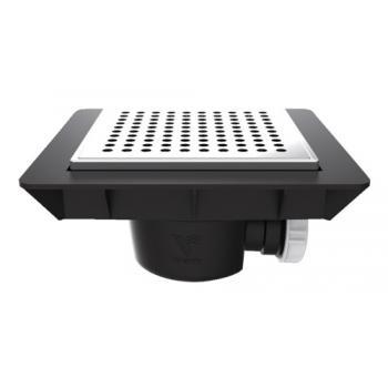Bonde de sol extra-plate avec cadre pour douche à carreler Quadratto