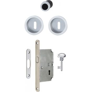 Set clé L aluminium pour porte coulissante rosace ronde 4920