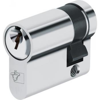 Cylindre simple pour locaux communs sur ouverture centrale laiton nickelé, s'entrouvrants pour organigramme Sentinelle