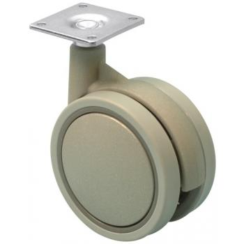 Roulettes de meuble Jemedesign - en polyamide gris - bandage caoutchouc thermoplastique
