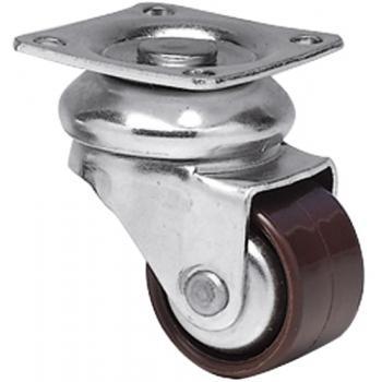 Roulettes de meuble Mini-Forte - en acier renforcé - roue polyamide large monobloc