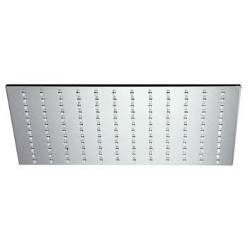 Pomme de douche métal Slim carrée 250 mm