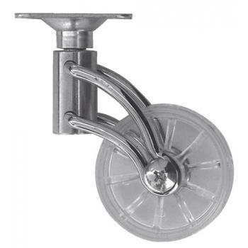 Roulettes - roue en polypropylène - fixation à platine