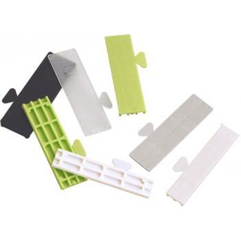 Cales de vitrage Bindy épaisseurs de 1 mm à 5 mm panachées en sac de 1000 pièces
