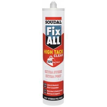 Mastic-colles Fix All High Tack Clear cartouche de 290 ml