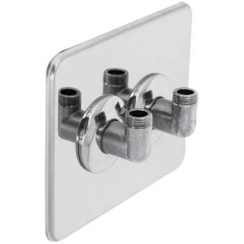 Cache de finition inox Gripp Robifix pour installation sous évier/lavabo