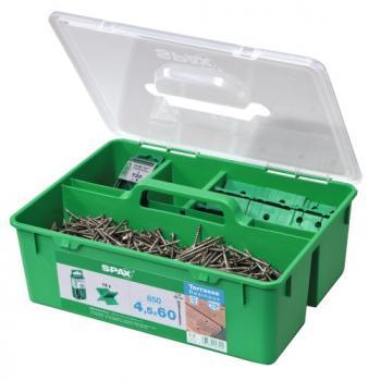Kit de fixation Pro pour terrasse bois résineux inox A2