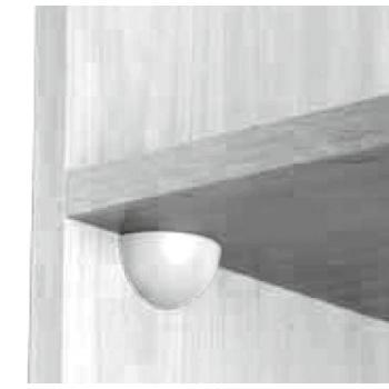 Taquet d'assemblage Storo avec cache 1/4 de boule
