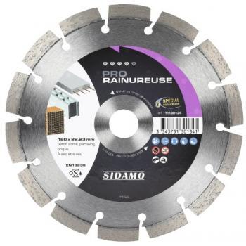 Disques diamants jante segmentée matériaux de construction Pro Rainureuse