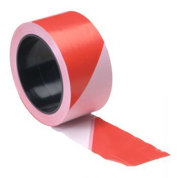 Ruban de signalisation bi-colore blanche/rouge Neba