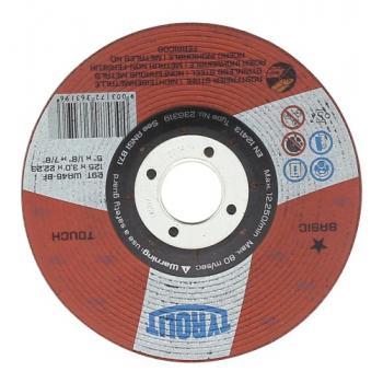 Disque à ébarber métaux inox moyeu déporté Basic semi flexible