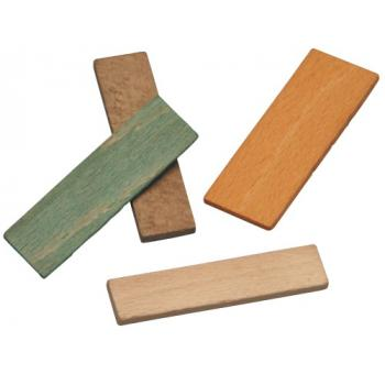 Cale en bois de vitrage de longueur 70 mm Largeur 15 mm