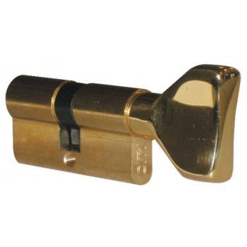 Cylindre double de sûreté à bouton - Profil européen s entrouvrant sur numéro - Laiton poli - Série City 5G