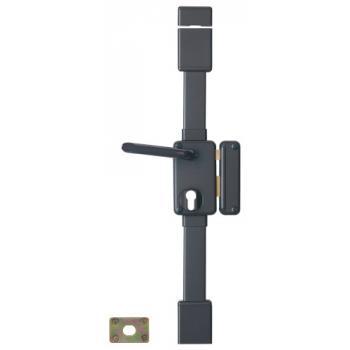 Serrure en applique verticale 3 points à fouillot 7 mm - A cylindre européen - BELUGA