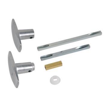 Bouton double 1 portée aluminium multipose