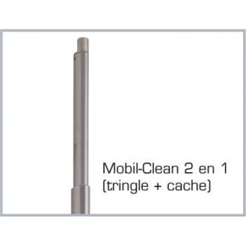 Crémone pompier à poignée rotative en applique pour menuiserie bois, métal ou PVC Véolis