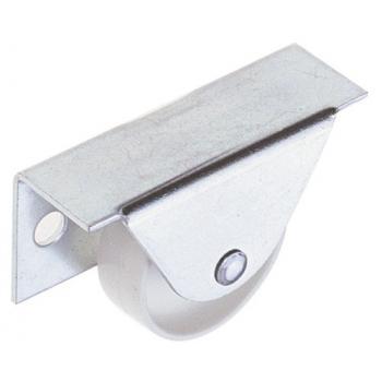 Roulette acier zingué - blanc