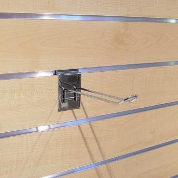 Crochets double à blisters pour panneaux rainurés