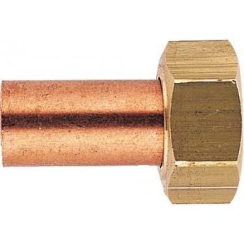 Raccord 2 pièces droit à visser femelle /douille cuivre à souder 359 CGU