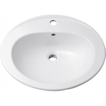 Vasque céramique à encastrer Bastia 56x48 cm