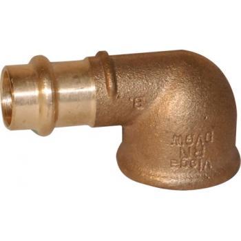 Coude bronze 90° femelle à sertir femelle à visser Sanpress