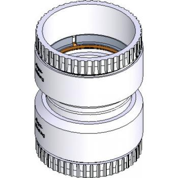 Raccord polypropylène flexible/flexible