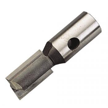Fraise de défonceuse carbure monobloc brasé filetage intérieur 2 coupes droites coupe frontale