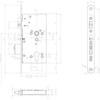 Serrures Médiator 1 point entraxe 92 mm carré de 8/9 mm type 609 PZ