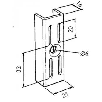 Cremaillère standard - pour kit de crochet - Maison