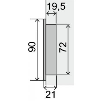 Poignée cuvette ronde inox 304 Ø 90 mm Boëdic - Legallais
