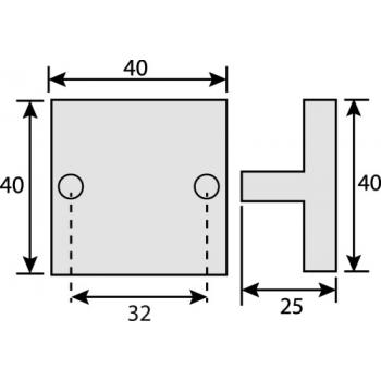 Poignées carrées en T Bendor