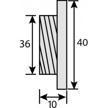 Poignées cuvette rondes Ø 35 mm Bendor