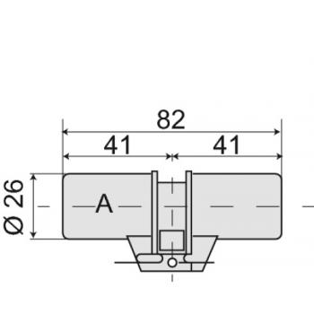 Cylindre double série 484 pour serrure à larder