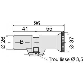 Cylindre double à bouton série 484 pour serrure à larder