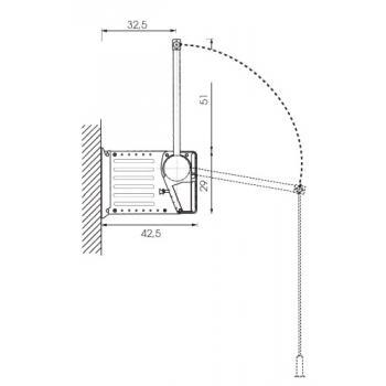 Penderie à élévateur Beaufort fixation latérale ou murale - Force 20 kg