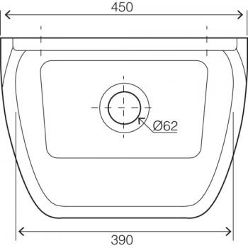 Poste d'eau de service céramique avec grille porte-seau