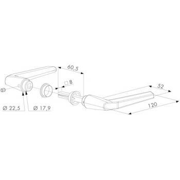 Béquilles doubles en aluminium pour portail - type 3006