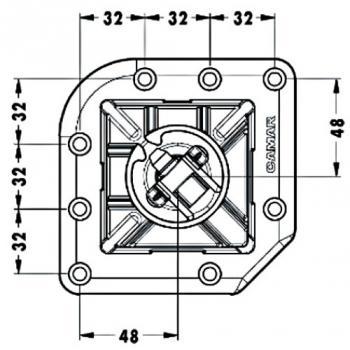 Pieds de table acier 705 - carré 80 - Quadra 649