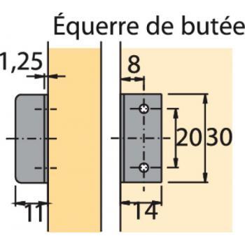 Serrure de meuble à cylindre à palastre Z 23