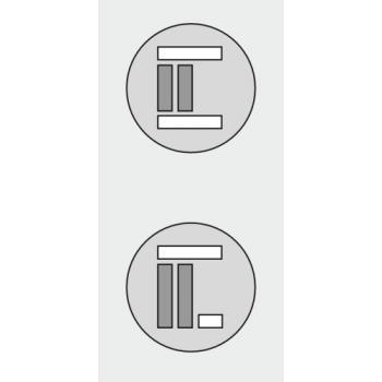Vantail de 15 kg - Clipo 15H Inslide / Mixslide pour porte en bois - Rail de coulissage seul