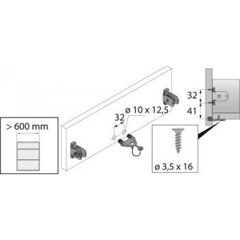 Stabilisateur de façade - pour tiroirs ArciTech