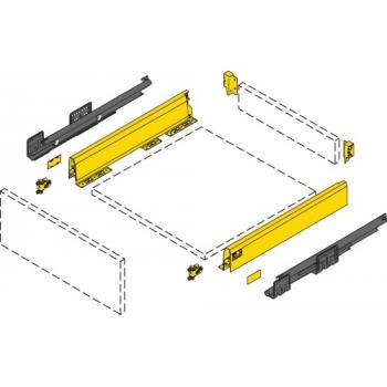 Kit tiroir simple - hauteur 94 mm - argent