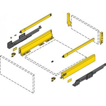Kit tiroir 94 avec bandeaux - hauteur 186 mm - anthracite