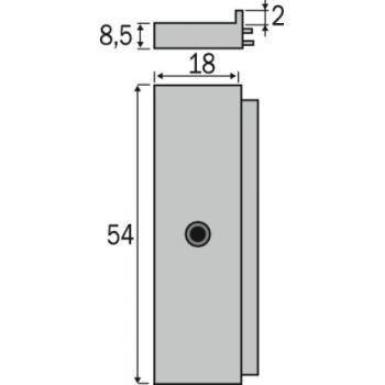 Loqueteau Platex - pose en applique